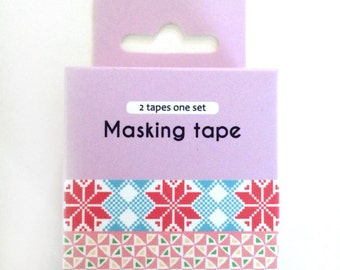 washi tape - adhesive tape - decorative masking tape - cardmaking tape - scrapbooking tape - gift wrapping - flowers and dots washi tape