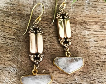 Antique Earrings/ Moonstone Earrings