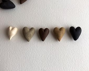 hand-made ceramic hearts - you pick - bag of 12