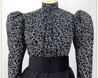 Swirl Print Victorian Blouse