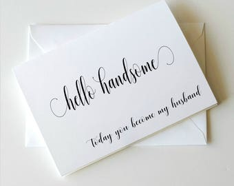 Thank you cards etsy to my groom on our wedding day card to my groom card wedding day thecheapjerseys Image collections