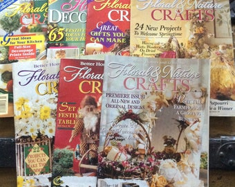 Better Homes and Gardens Floral and Nature Crafts Magazines-Lot of 7