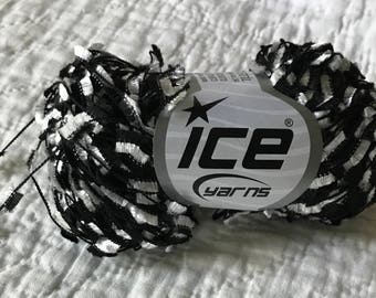 Black and White Butterfly Ribbon Yarn--Ice Yarns