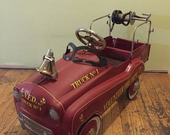 Vintage Gearbox Fire Truck Petal Car,