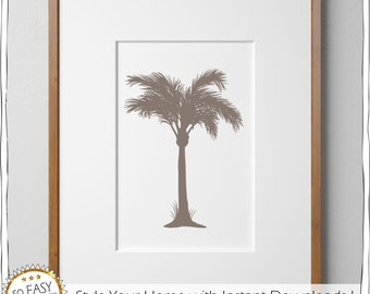 Wall Art Palmtree, Printable brown, Print Mexico, Wall Print, Digital Print, Palmtree, Mexico, vacation, Poster, Check out dicount-Code!