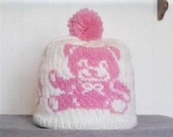 Pink Teddy Bears Hat,  Kids Teddy Bears Hat