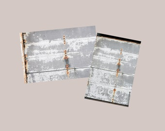 Peeling White Paint Rusty Rivets on Grey Wood Digital Photo Download, Industrial Grunge Distressed Background Stock Photo Instant Download