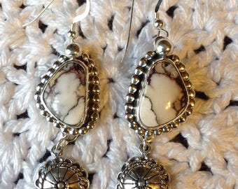 Wild Horse Earrings with Concho