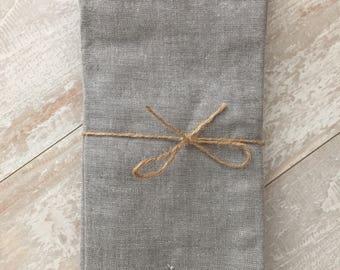Grey Chambray Napkin Set - Monogrammed Napkins - Personalized Napkins - Cloth Napkins - Hostess Gift - Bridesmaid Gift - Birthday Gift