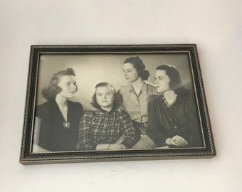Vintage 1940s Framed Photo Of A Group Of Ladies/1940s Family Photo/Vintage Photo Of Ladies/1940s Framed Photo/1940s Ladies/40s Photo