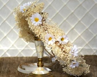 Daisy Boho crown, wedding headpiece, woodland , bridal hair flower, rustic wedding, bridal headband head garland