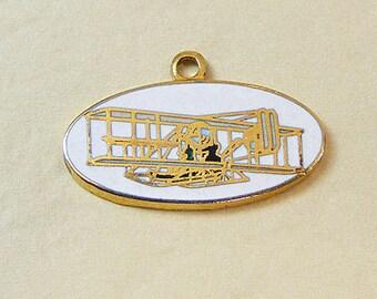 Vintage Aviva Plane/Glider Charm Enamel Cloisonne  13-1