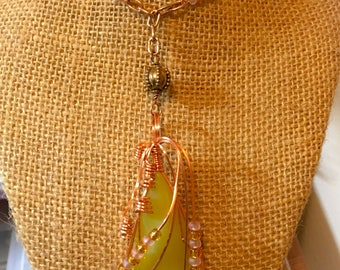 Gorgeous Yellow Stone Statement Necklace