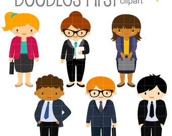 Office Kids Digital Clip Art for Scrapbooking Card Making Cupcake Toppers Paper Crafts
