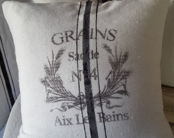 Grain sack inspired pillow cover-Grains No4 Pattern