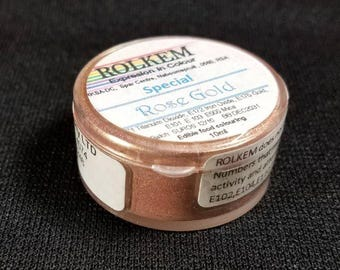 "Rose Gold Metallic ""Special"" Dust By Rolkem Rose Gold Highlighter Dust DUS319"