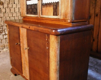 Buffet Cabinet 40s, sideboard, glass doors Wonder Store-SKU 1425