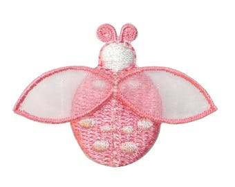 ID 1616K Ladybug Fly Patch Garden Beetle Insect Bug Embroidered Iron On Applique
