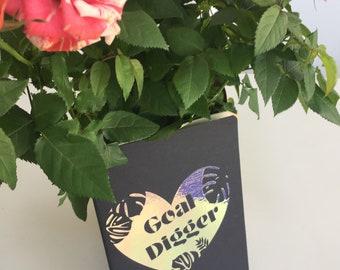 Goal Digger Notebook - goaldigger - stationary - delicious monster - unicorn - rainbow - custom - personalised stationary - ethical - paper