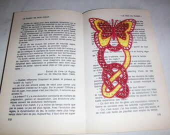 """Lace pattern """"Butterfly"""" bookmark"""