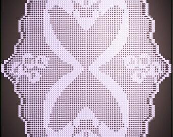 Filet Crochet 'Swans', instant download pdf.
