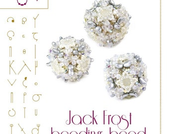 Beading tutorial / pattern Jack Frost Beaded Bead Pattern with two hole lentil beads – PDF instruction for personal use only