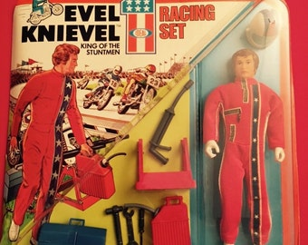 1975 Ideal toys Evel Knievel racing set new old stock