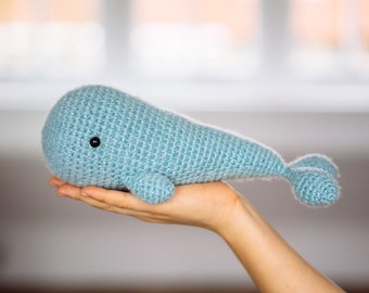 Crochet Whale, Plush Whale, Whale Toy