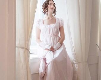 Regency silk gown wedding dress Pride and Prejudice Jane Austen