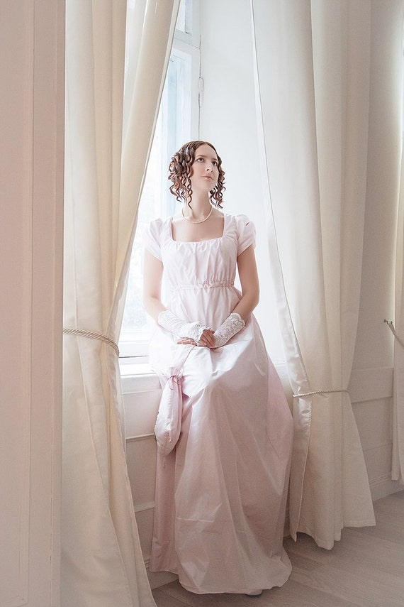 Regency silk gown wedding dress Pride and Prejudice Jane