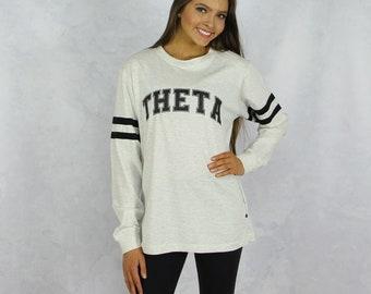 Kappa Alpha Theta Long Sleeve Jersey T-Shirt