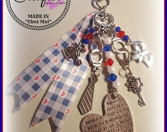 bag charm inspired by fifty shades of grey (50 shades of grey)