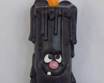 Ceramic Halloween Dripper Candle, Ceramic Dripper Candle, Halloween Dripper Candle, Halloween Candle, Ceramic Candle, Black Candle