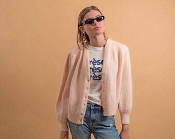 Vintage Mohair Cardigan / Fuzzy Cardigan / Vintage 80s Cardigan / Wool Cardigan Δ fits sizes: S/M/L