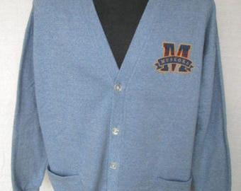 The Factory Store MUSKOKA Mens Cardigan Sweater Size XL 50/50 Cotton Blend Used Made in CANADA