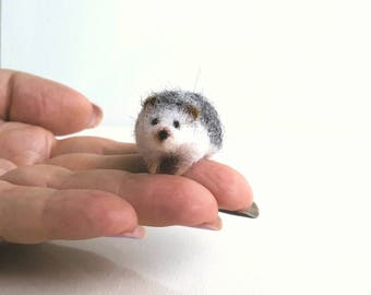 Micro hedgehog....Felt toy Handmade Doll Soft Sculpture OOAK Needle Felted Wool Animals New... I will make this item for your order
