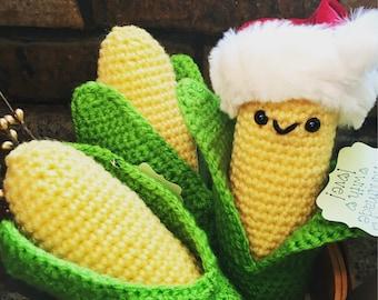 Crochet Corn Amigurumi / Baby Rattle