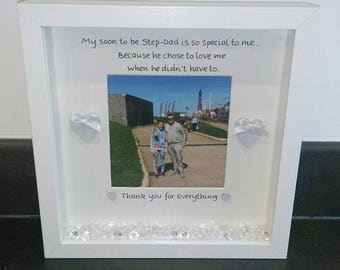 Step-Dad Frame, Thank You Step-Dad, Step-Dad Gift, Special Step-Dad, Fathers Day, Fathers Day Gift, Step-Dad Birthday