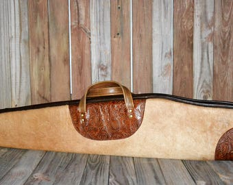 Hair On Hide Leather Scoped Rifle Case HSR-150