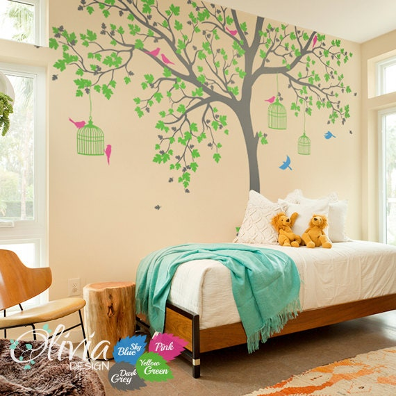Tree removable vinyl decal Tree wall decal Wall Art Wall Mural