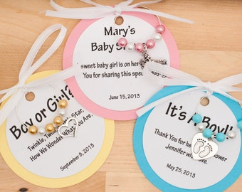 Customized Baby Shower Wine Charm Favors