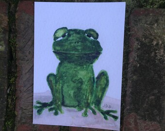 Watercolor Frog Notecards - Set of 4 Frog Notecards with Envelopes