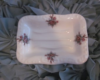 COLLECTIBLE POTTERY ATHENA California Pottery Large Soap Dish vb  Rose Pattern