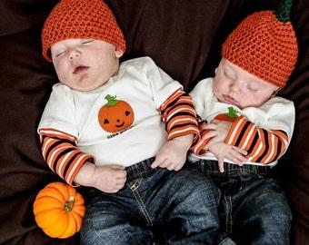 Chapeau de bébé citrouille d'Halloween