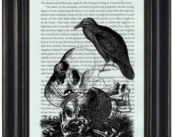 Edgar Allan Poe Book Page Print Raven Book Print