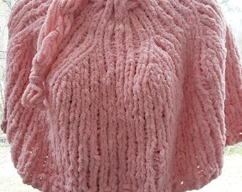 Knit Peachy Poncho