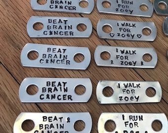 Beat Brain Cancer Shoelace Tag