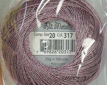 Lizbeth Metallic Thread: #317 Rose