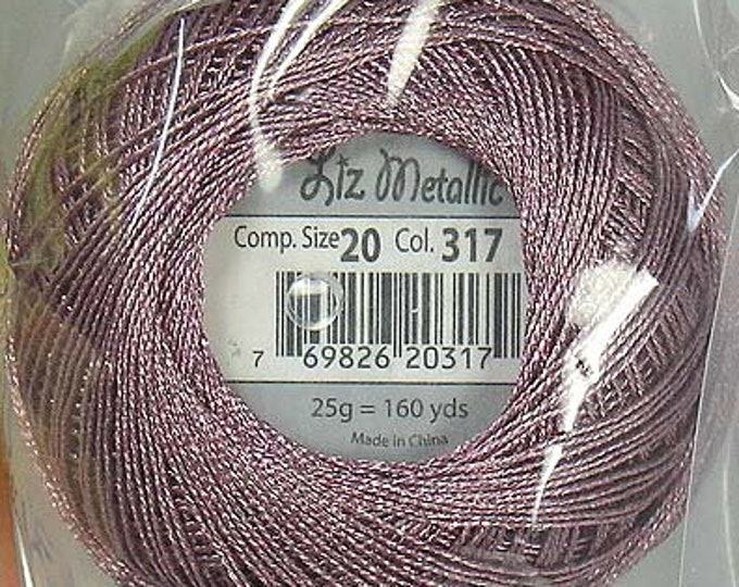 Featured listing image: Lizbeth Metallic Thread: #317 Rose