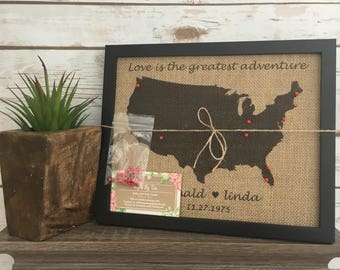 Pin board map etsy framed push pin travel map of united states world map us push pin map gumiabroncs Gallery
